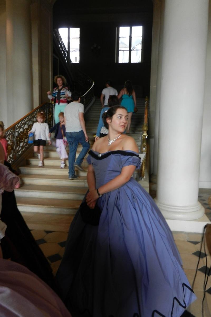 Palais impérial de Compiègne en crinoline et reconstitution du tableau de Winterhalter août 2014 Dscn6014