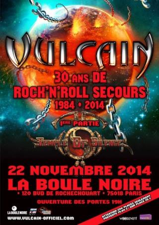 Vulcain à La Boule Noire (Paris) le 22 nov 2014 Flyer_11