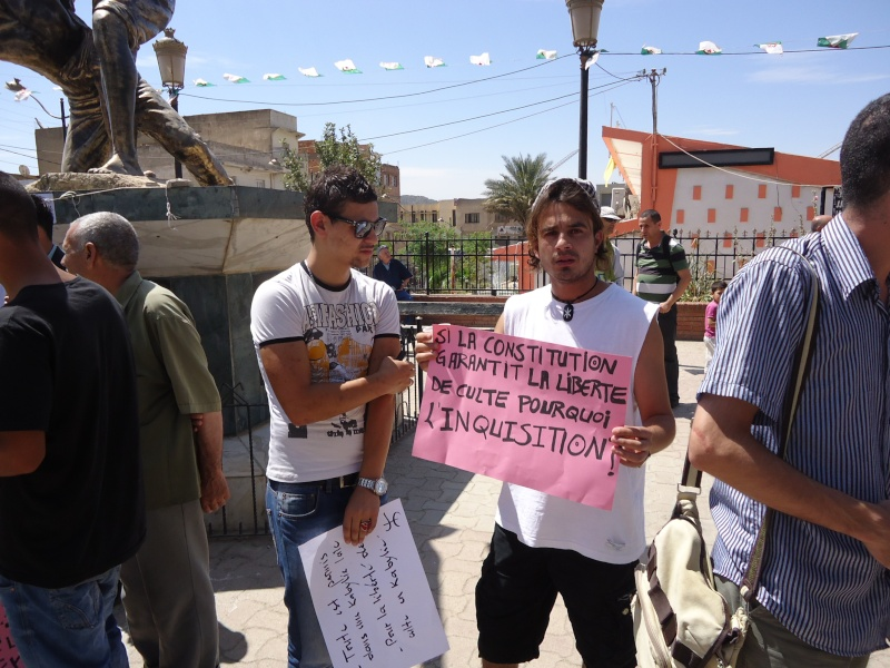 Rassemblement pour la liberté de culte et de conscience en Kabylie  à Akbou. Dsc02219