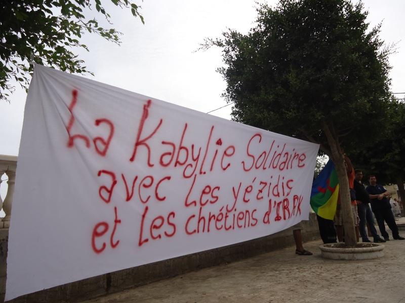 Rassemblement de soutien aux chrétiens d'Irak et aux Yézidis à Aokas (20/09/2014) Dsc02460