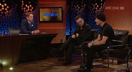 ORA in onda: Bono e The Edge al Late Late Show Bonoed11