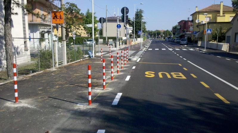 Savio -  Slalom speciale sulla pista ciclabile mista pedonale .... 2014-010
