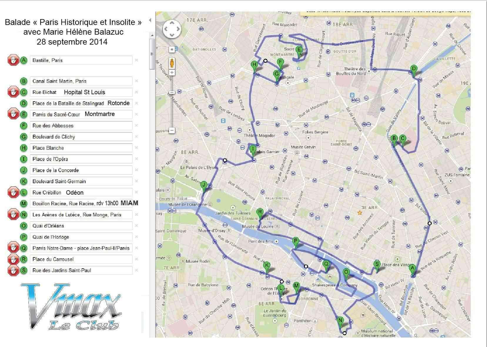 Balade dans le Paris Historique et insolite 28 Septembre Itiner10