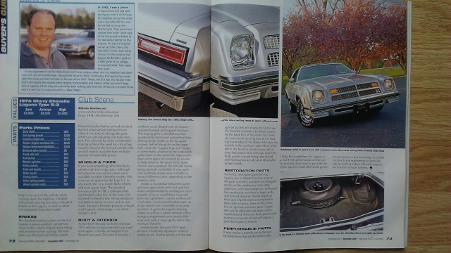 Hemmings 2006 Article on 1976 Laguna 1976la12