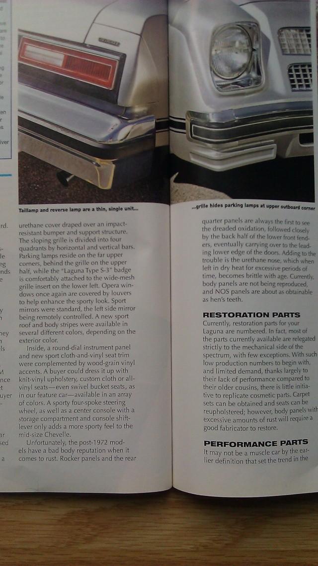 Hemmings 2006 Article on 1976 Laguna 1976la18