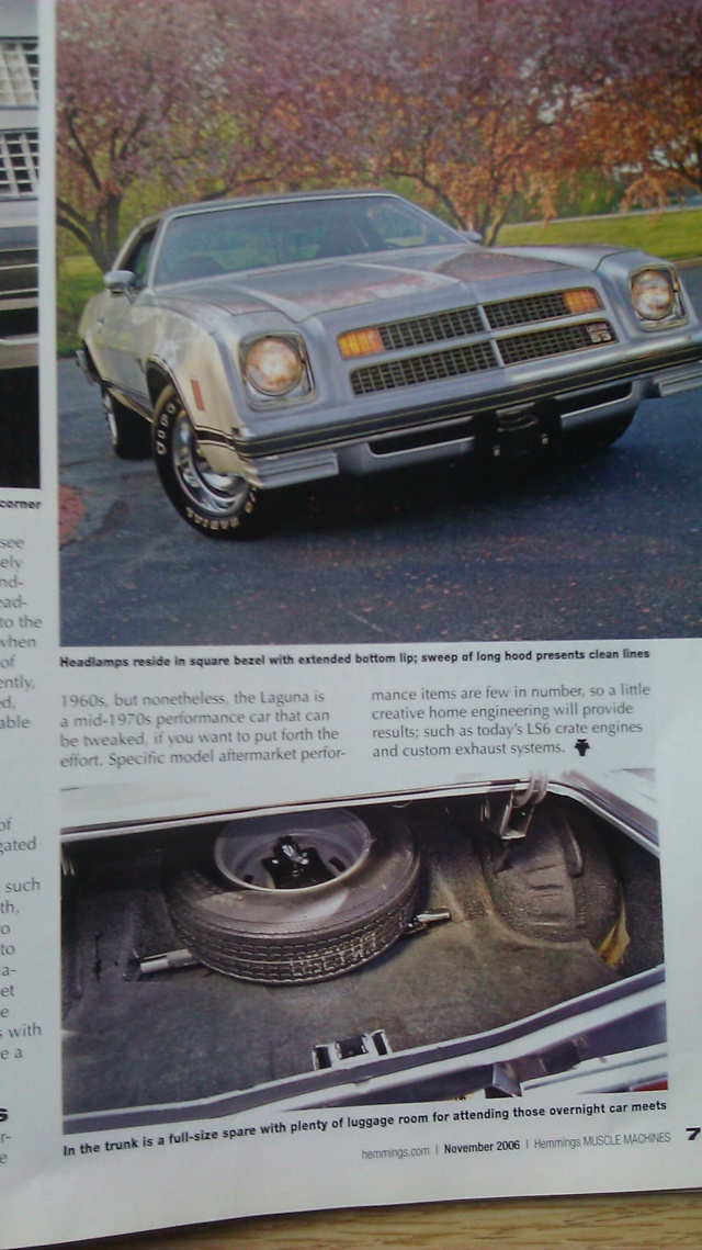 Hemmings 2006 Article on 1976 Laguna 1976la19