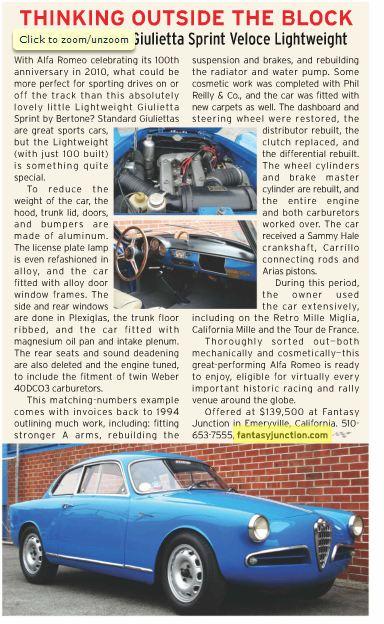 Alfa Romeo Giulietta Sprint Veloce - Page 2 Giu11