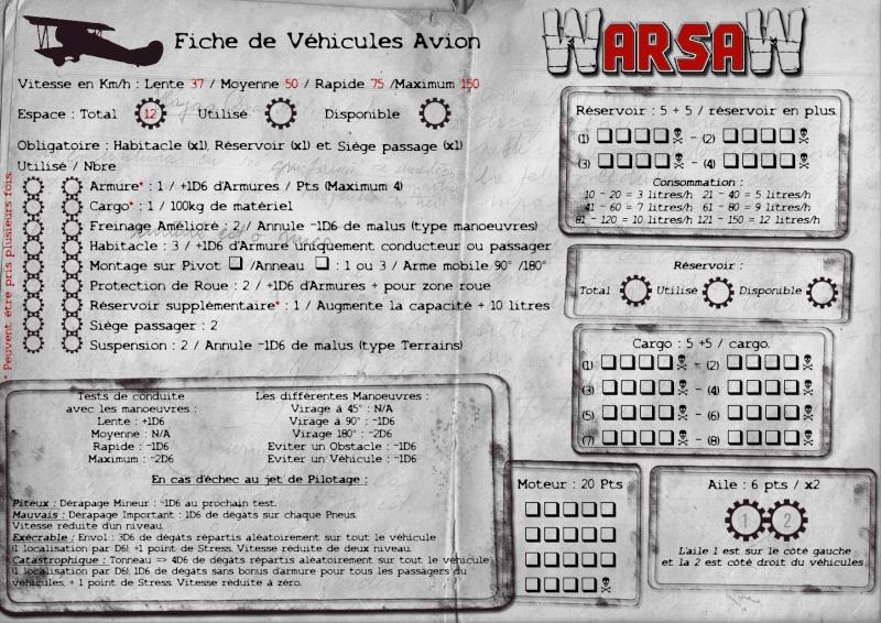 [WarsaW] règles de gestion de véhicules - 90 % Fiche-13