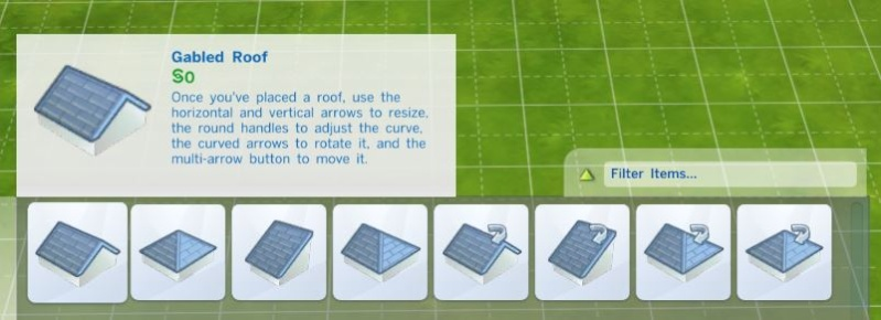 Building a Simple Structure in Sims 4 Using the Roof Tool 0113
