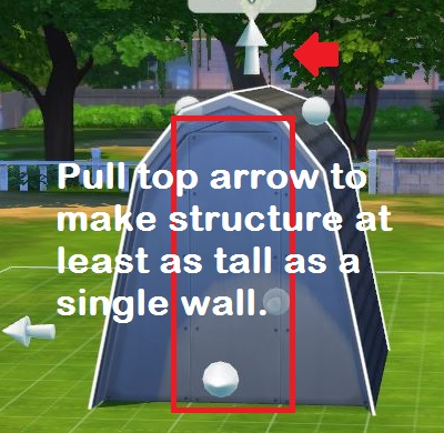 Building a Simple Structure in Sims 4 Using the Roof Tool 0412