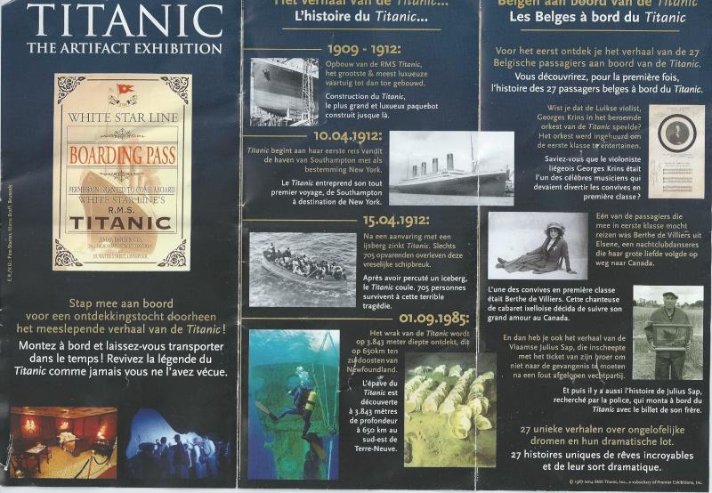 Exposition Titanic du 31 mai au 30 novembre 2014 à Bruxelles - Page 4 Brochu11