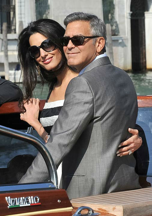 George Clooney, Amal Alamuddin Get Married 09281411