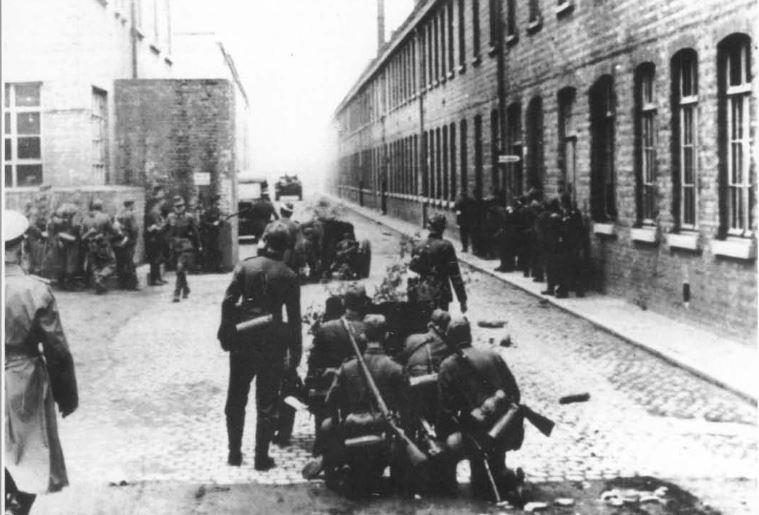 rapport destructions faites par les Allemands 1944 Casern14