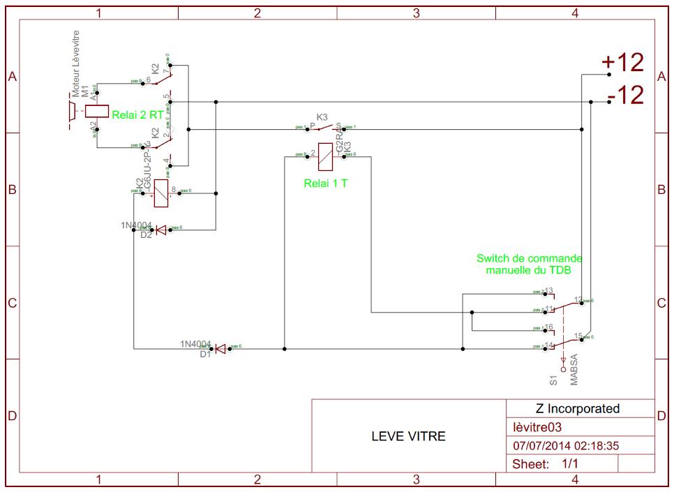 Etude de commande lève-vitre par relais. Lavitr10
