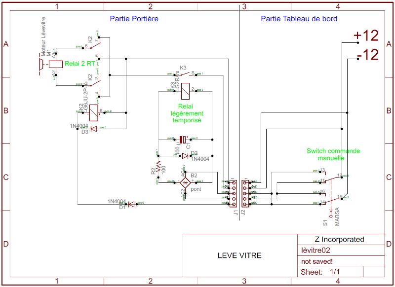 Etude de commande lève-vitre par relais. Lavitr11