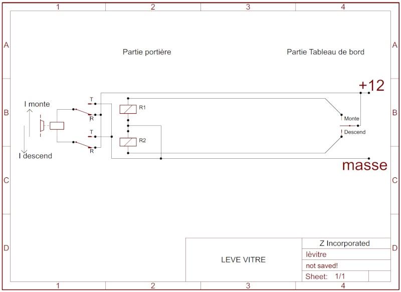 Etude de commande lève-vitre par relais. Lavitr12