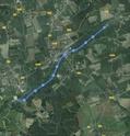 SUP dans L'Est de la France. Sur le Canal du Rhone au Rhin.  Carte_11