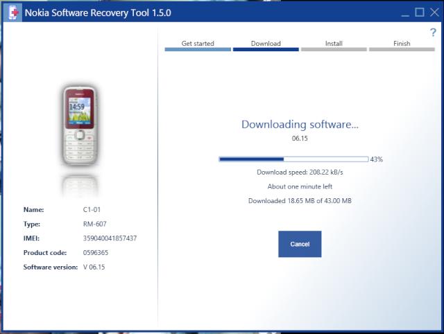 Nokia Software Recovery Tool - Khôi phục phần mềm Nokia 117