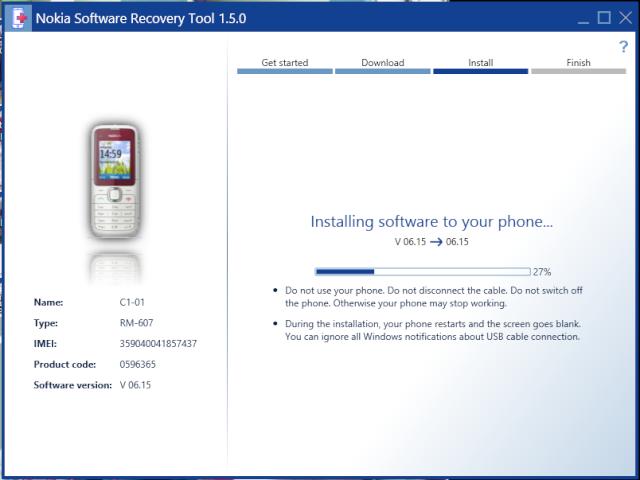 Nokia Software Recovery Tool - Khôi phục phần mềm Nokia 214