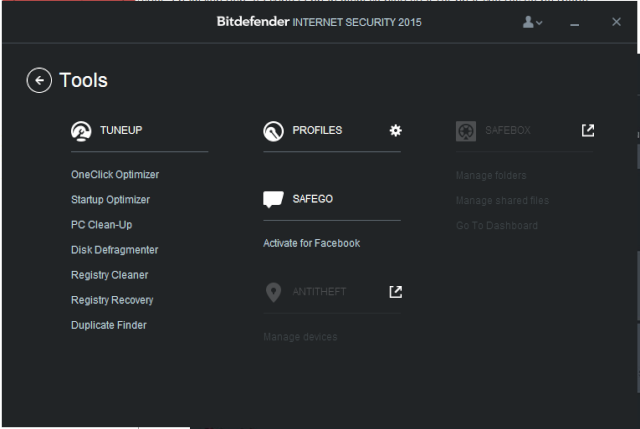 Bitdefender Internet Security 2015 - OneClick Optimizer 313