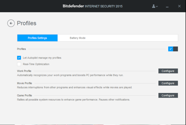 Bitdefender Internet Security 2015 - OneClick Optimizer 414