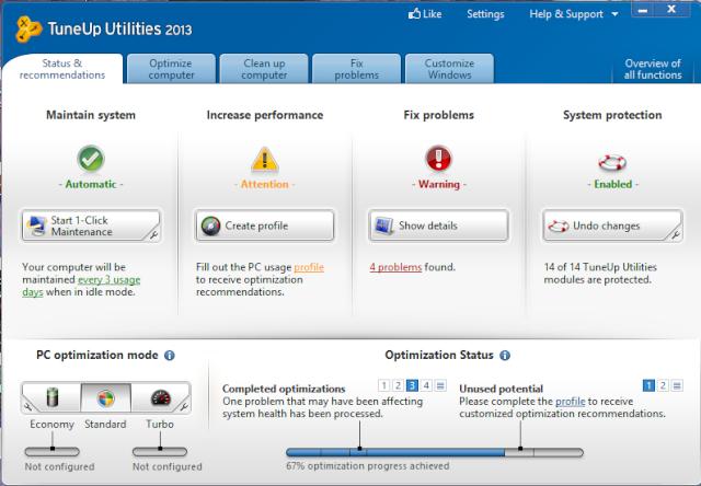 Phần mềm TuneUp Utilities 2013 13.0.3020.7 + key Tune10