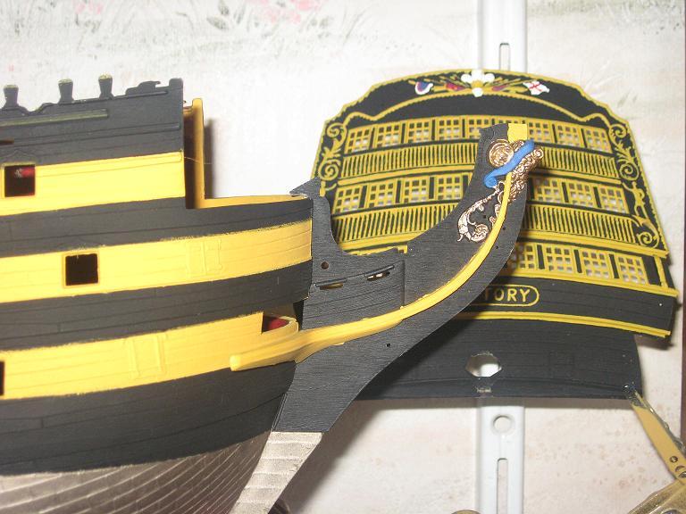 HMS VICTORY au 1/100ème de HELLER Proue_10