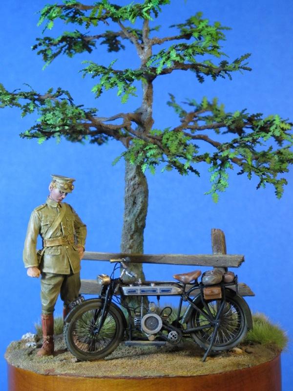 Moto DOUGLAS 1914 et son pilote, 54 mm, Tommy's War Img_0014
