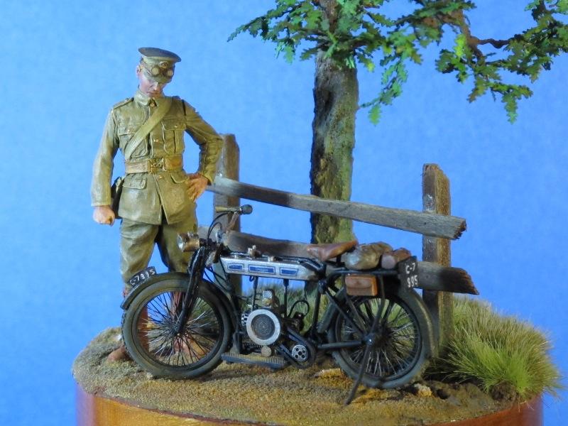 Moto DOUGLAS 1914 et son pilote, 54 mm, Tommy's War Img_0015