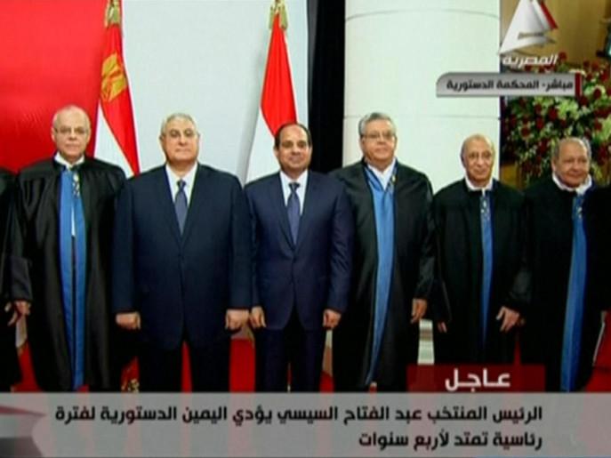 الرئيس عبد الفتاح السيسي يؤدي اليمين الدستورية رئيسا لمصر .! 612