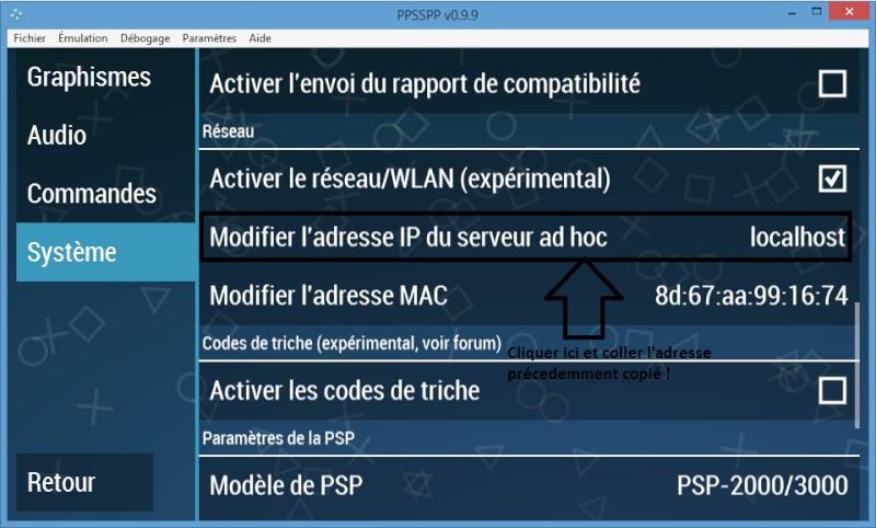 Emulateur PPSSPP pour psp + jeu en réseau EvolveHQ Home16