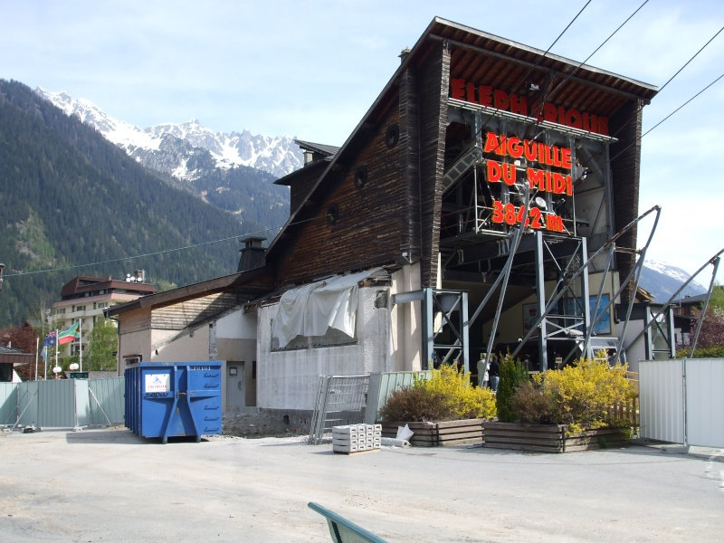 Reconstruction de la gare aval du téléphérique de l'aiguille du midi Dscf1510