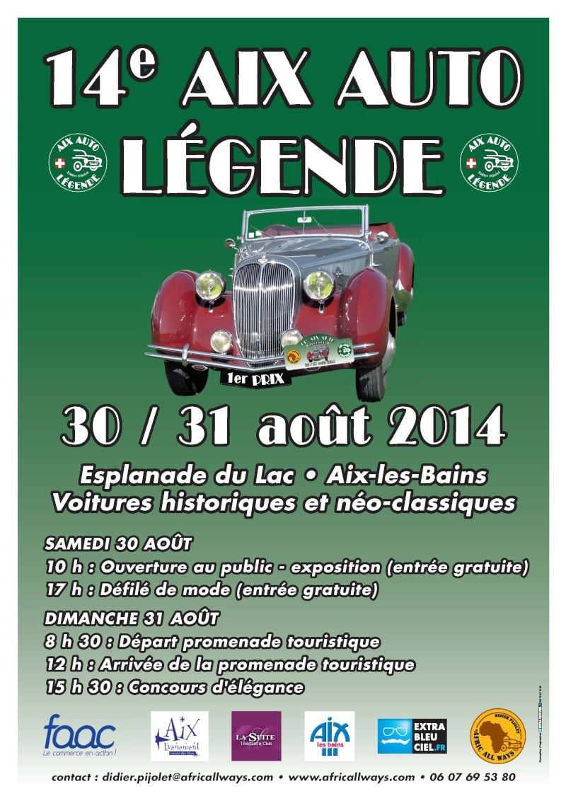 [73][30-31/08/2014] 14ème  Aix Auto Légende  Affich13