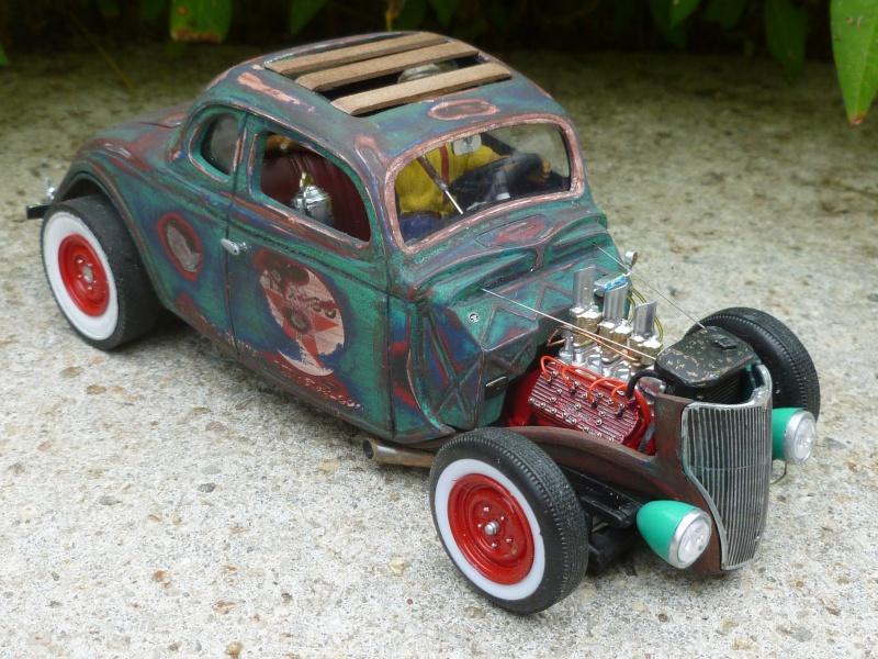 Ford 36' rat rod to Texaco P1020672