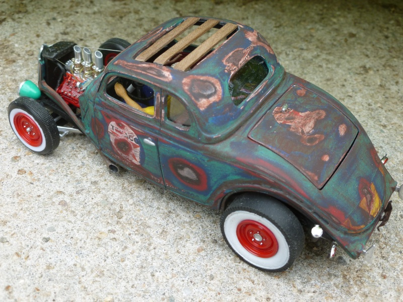 Ford 36' rat rod to Texaco P1020711