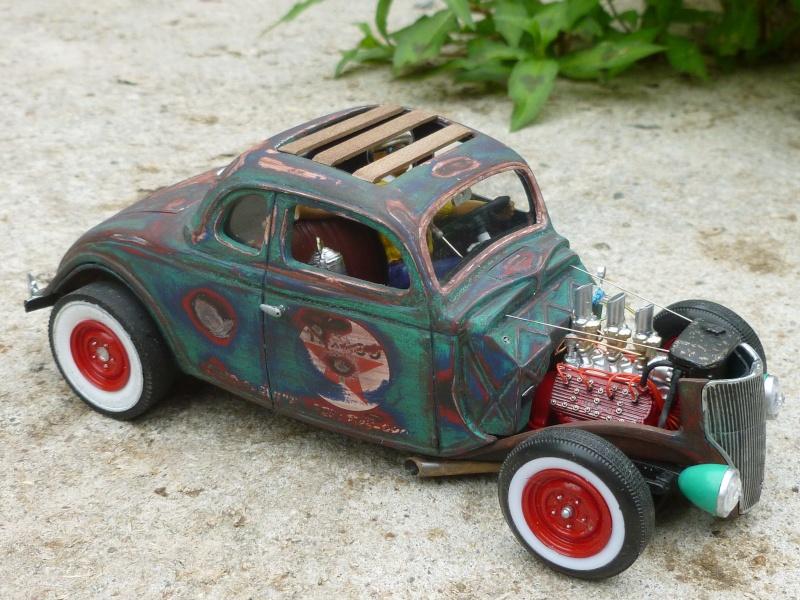 Ford 36' rat rod to Texaco P1020712