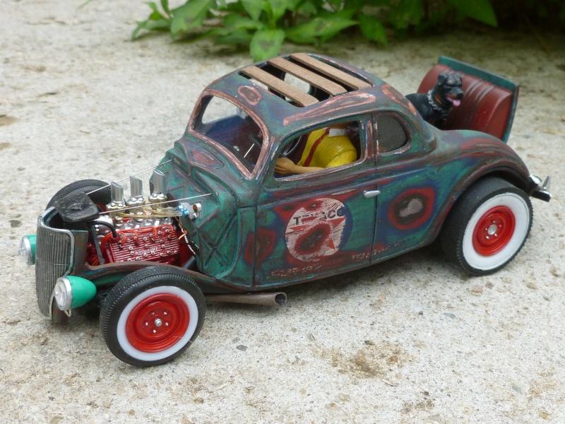Ford 36' rat rod to Texaco P1020713