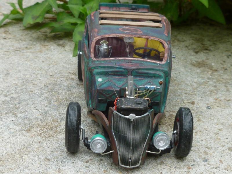 Ford 36' rat rod to Texaco P1020715