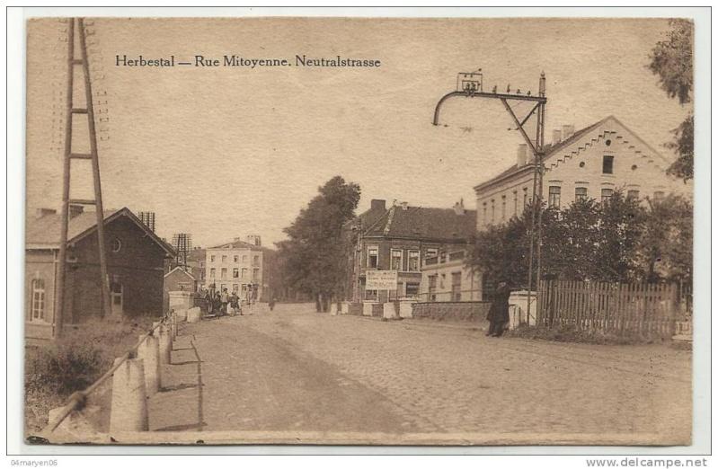 FRONTIERE BELGO-ALLEMANDE AU 3 AOÛT 1914 3aoat112