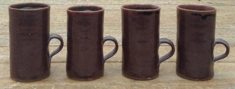 Barry Brickell mugs and coffee pot Bricke12