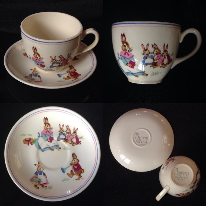 Crown Lynn Bunny Cup and Saucer Bunny10