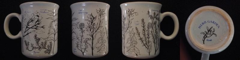 Herb Garden Q08 on a 1314 mug: Juliet Hawkins designer Herbga10