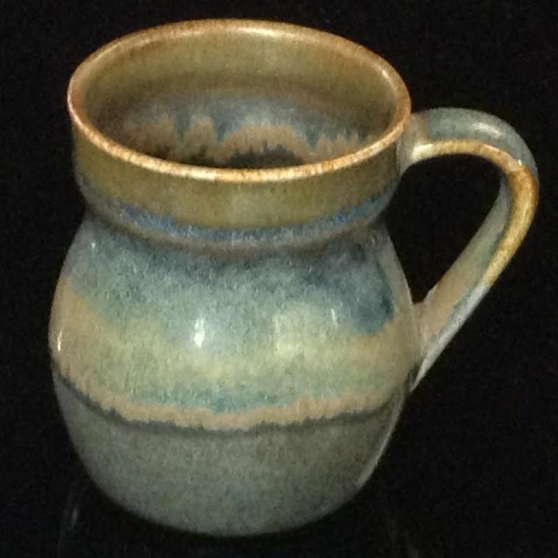a colourful glaze from Parker Pottery Parker10
