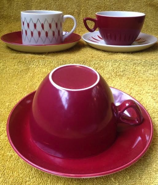 Plum Vitrified 739 Saucers: I need some Carlton cups to match Reds10