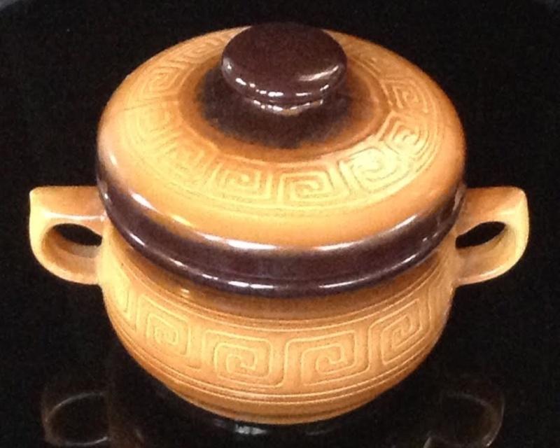 Teal Casserole: Greek Key pattern Teal10