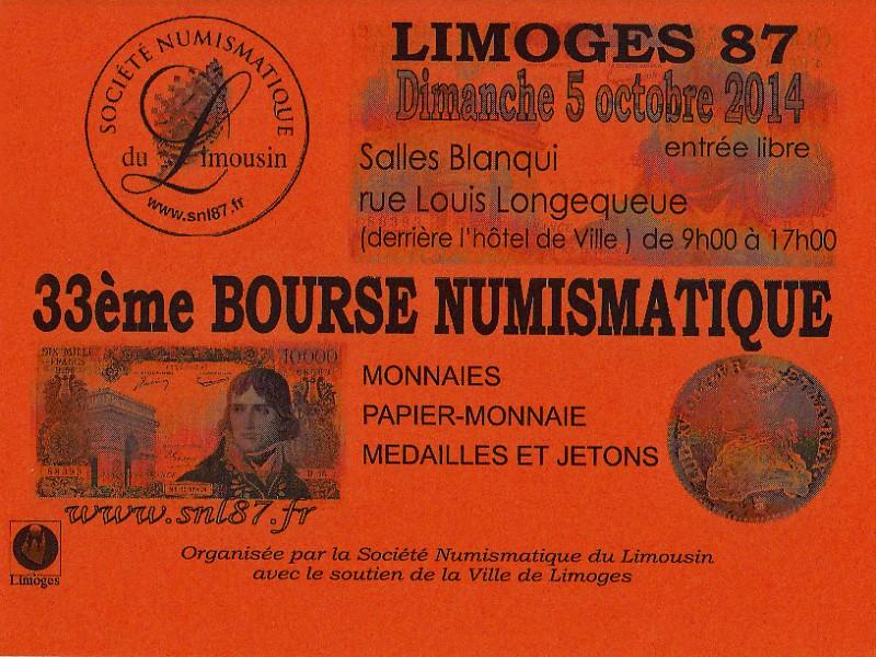33ème Bourse Numismatique de Limoges Affich10
