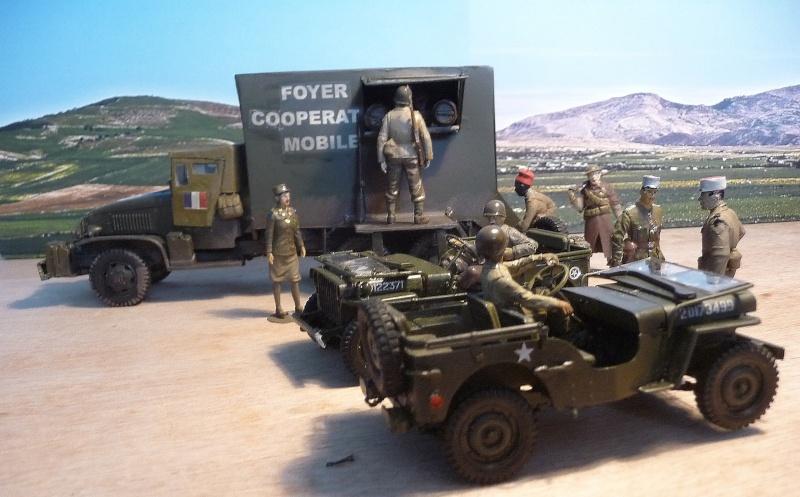 GMC CCKW 353 6X6 - 1ére Armée Française - Campagne de France- FOYER COOPERATIVE MOBILE  P1050631