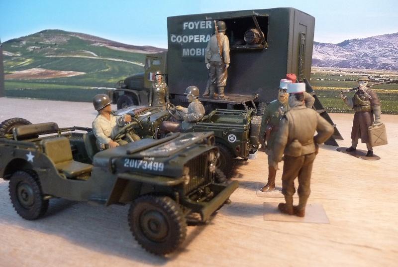 GMC CCKW 353 6X6 - 1ére Armée Française - Campagne de France- FOYER COOPERATIVE MOBILE  P1050633