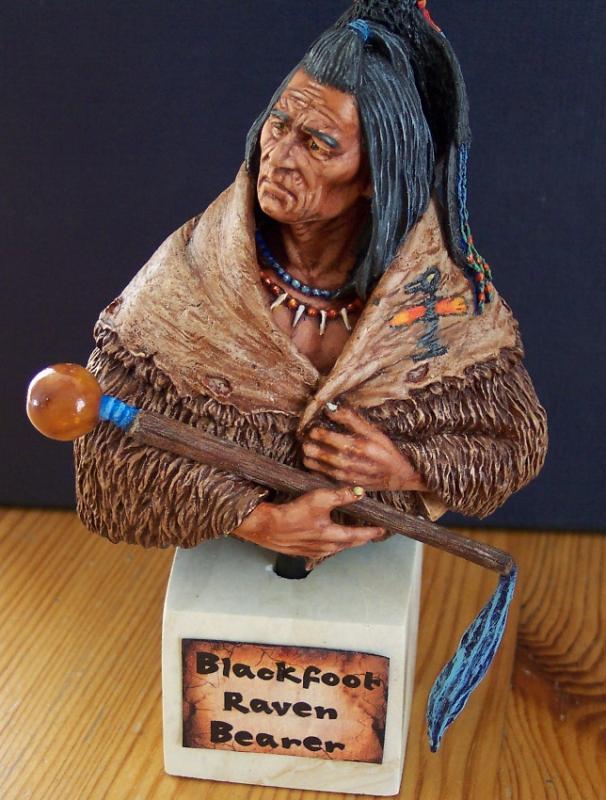 Blackfoot raven Bearer..Büste von Young Miniatures in 1/10...... Fertig31