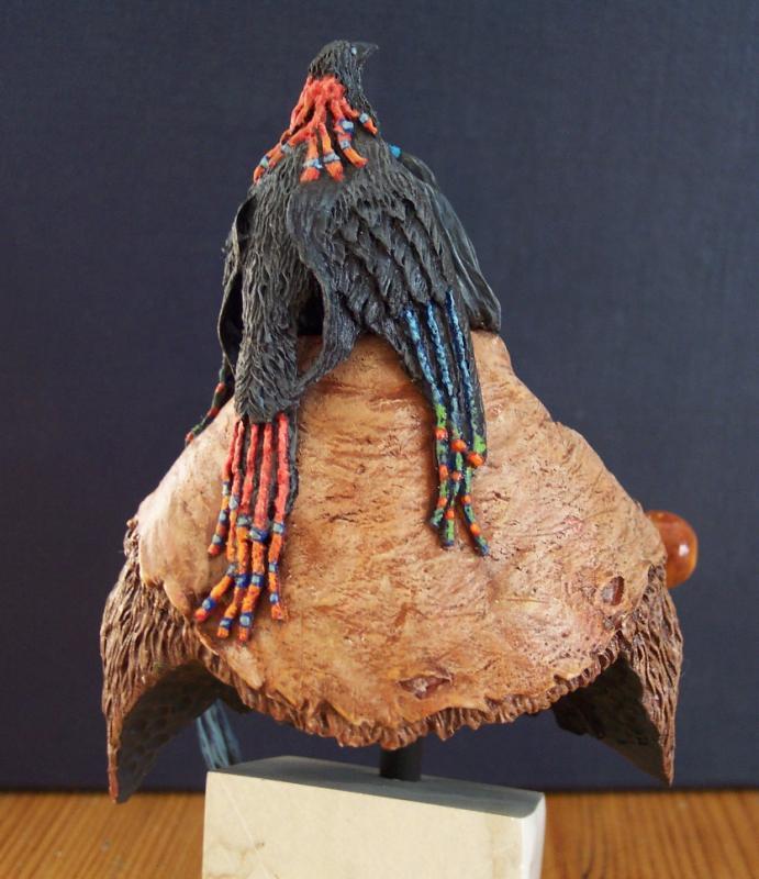 Blackfoot raven Bearer..Büste von Young Miniatures in 1/10...... Fertig34